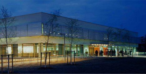 Mensa bei Nacht (Foto © See Architekten)  Hochschule Zittau - SFH Ingenieurbüro Dresden