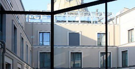 Hotel Innside Dresden - Blick in den Innenhof - SFH Ingenieurbüro Dresden