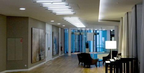 Flur mit Aufenthaltsbereich Hotel Innside Dresden   - SFH Ingenieurbüro Dresden