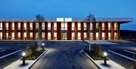Neubau Betriebshof Stadtwerke Weilheim i.OB, Außenansicht - SFH Ingenieurbüro Dresden