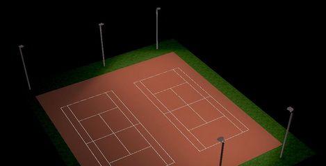 Flutlichtanlage Tennisplatz Waldpark Dresden  - SFH Ingenieurbüro Dresden