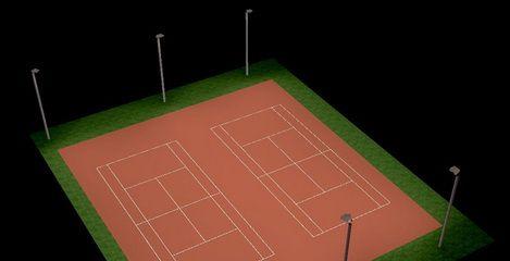Flutlichtanlage Tennisplatz Waldpark, Dresden - SFH Ingenieurbüro Dresden